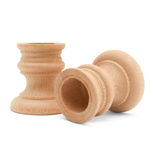 """1-7/8"""" country candle cup, 1-7/8 inch country candle cup, candlestick, candle cup, bulk unfinished wooden candle cup for DIY crafting projects."""