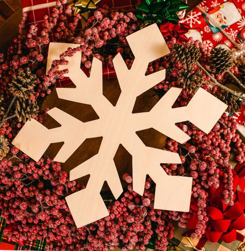 "Snowflake Cutout Jumbo 18""L x 16.5""W"