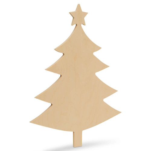 "Christmas Tree  With Star Cutout Small  6""L x 4.5""W"