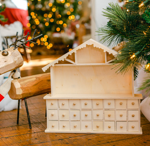 Unfinished Wooden Advent Christmas Nativity Calendar