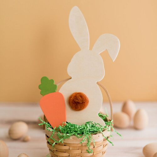 Jumbo Wood Easter Bunny Cutout, 20""