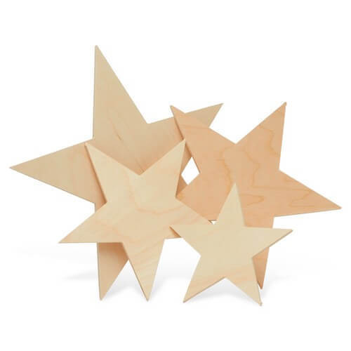 Cutout Wooden Star, 6""