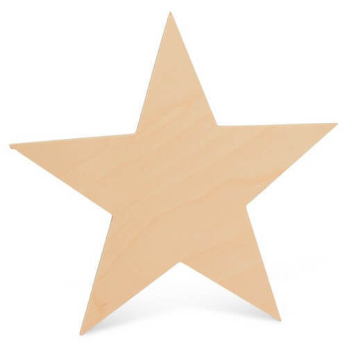 Large Cutout Wooden Star, 8""
