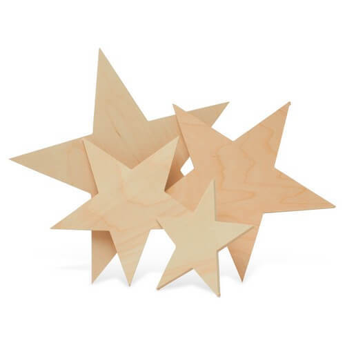 """Large Cutout Wooden Star, 8"""""""