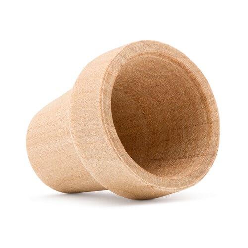 "Unfinished Wood Flower Pot, 2"""