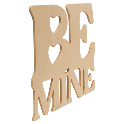 Wooden Be Mine Cutout Letters