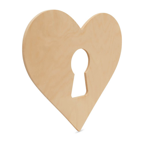 8x Christmas Wooden Heart Stickers Embellishments Craft