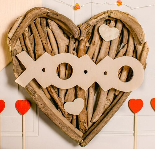 "Wood ""XOXO"" Cutout Large, 12"" x 3.5"""