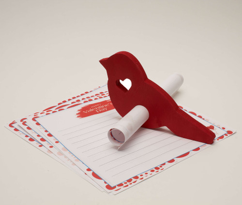 Wood Valentine Bird Messenger