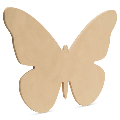 "Wood Butterfly Cutout Extra Large, 16"" x 11"""