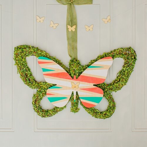 "Wood Butterfly Cutout Large, 12"" x 8"""