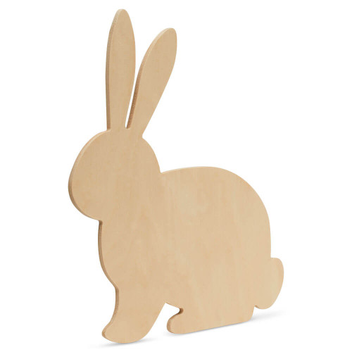 "Wood Easter Rabbit Extra Large, 16"" x 14"""