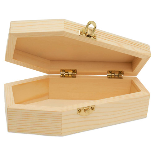 """small wooden coffins boxes , 6"""""""