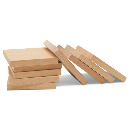 "Wooden Square Cutout, 2"" and 1/4"" thick"