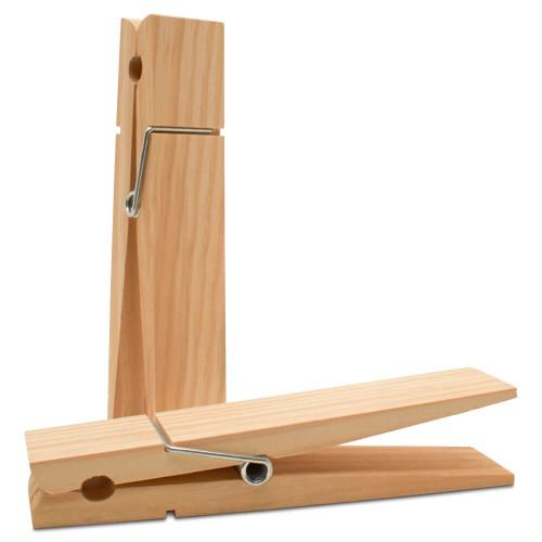 """Wood Jumbo Clothespin, 9"""""""