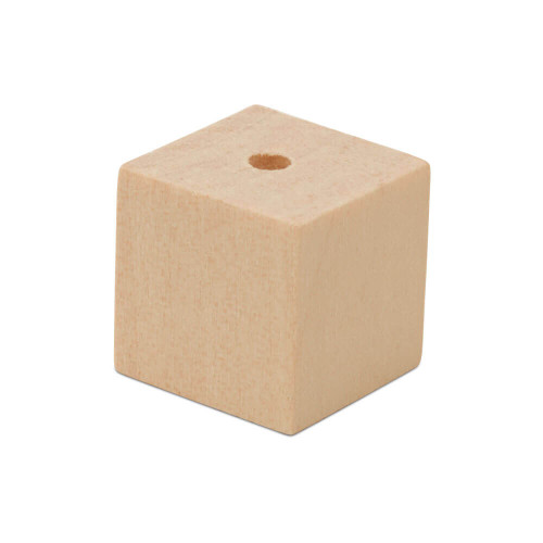 "5/8""  Wooden Square Bead"