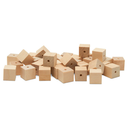 "Woodpeckers Crafts 5/8""  Wooden Square Bead"