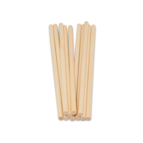 """wooden dowel rods 3/16"""" x 6"""" hardwood dowel rods for DIY crafting and woodworking projects"""