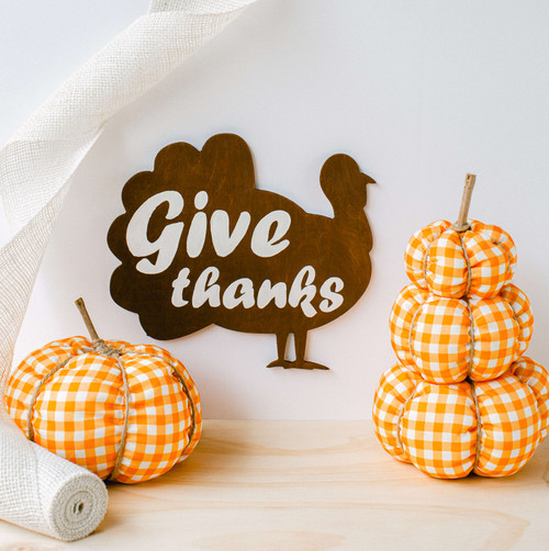 "Wood Classic Turkey  Cutout Large, 12"" x 10.7"""