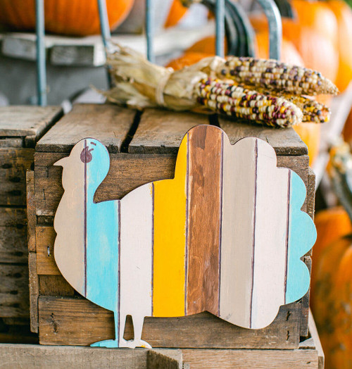 "Wood Classic Turkey  Cutout Medium,8"" x 7"""