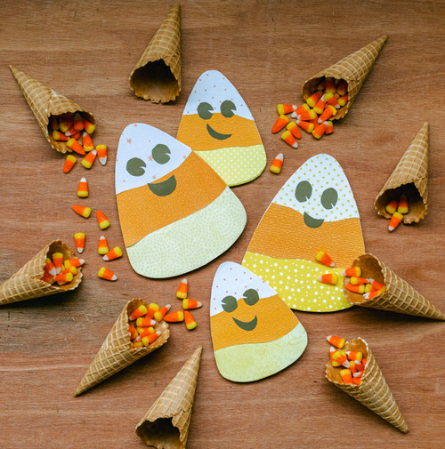 "Unfinished Wood Candy Corn Cutout Mini, 6"" x 5.5"", for Crafting"