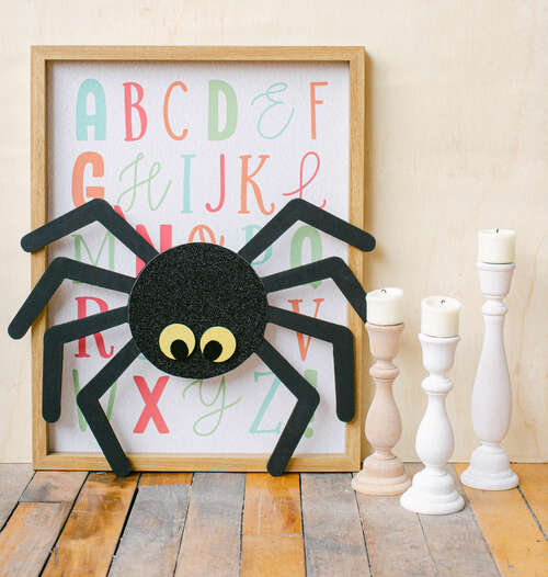"Wood Halloween Spider Cutout, Large  12"" x 11.7"",  for Crafts"