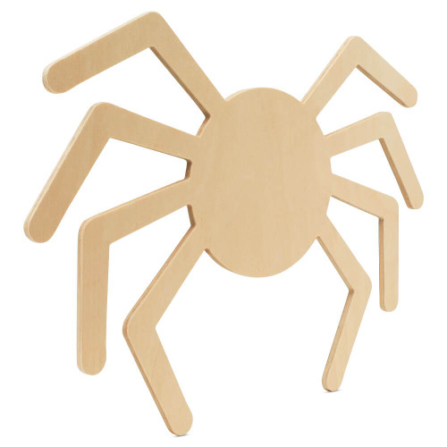 """Wood Halloween Spider Cutout, Large  12"""" x 11.7"""",  for Crafts"""
