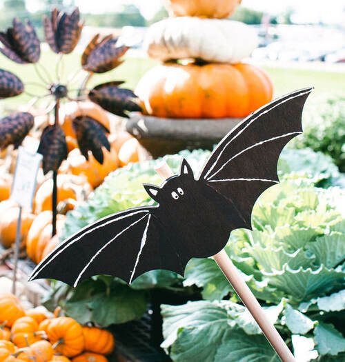 "Unfinished Wood Halloween Bat Cutout, Small  12"" x 4"""