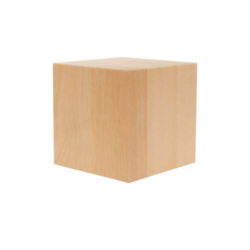 Wooden Cube, 4""