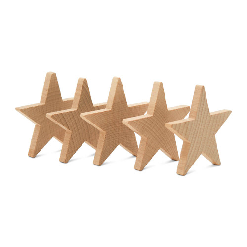"""2-1/2"""" Star Wooden , 1/4"""" Thick"""
