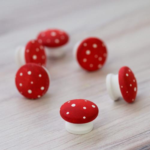 "1-1/2"" Mini Wooden Mushroom"