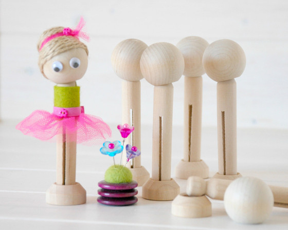 Making Peg Dolls from Wooden Doll Pins