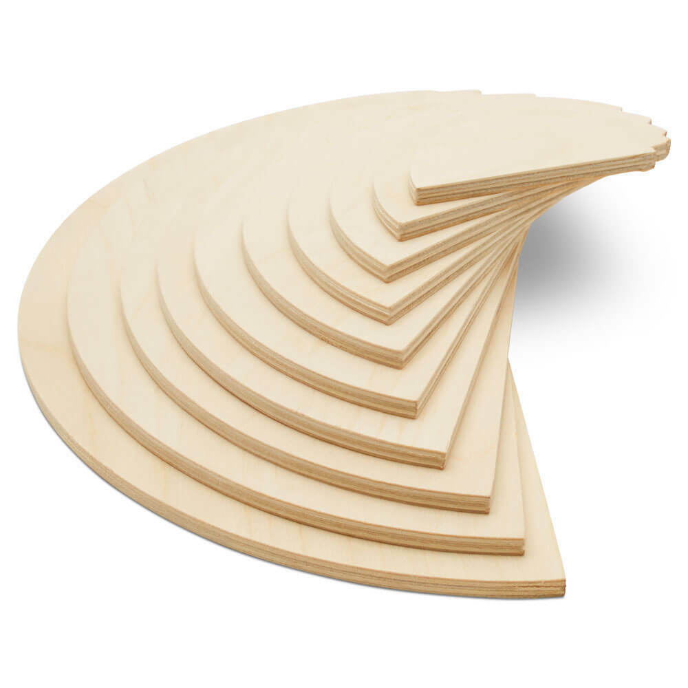 Wood Half Circles