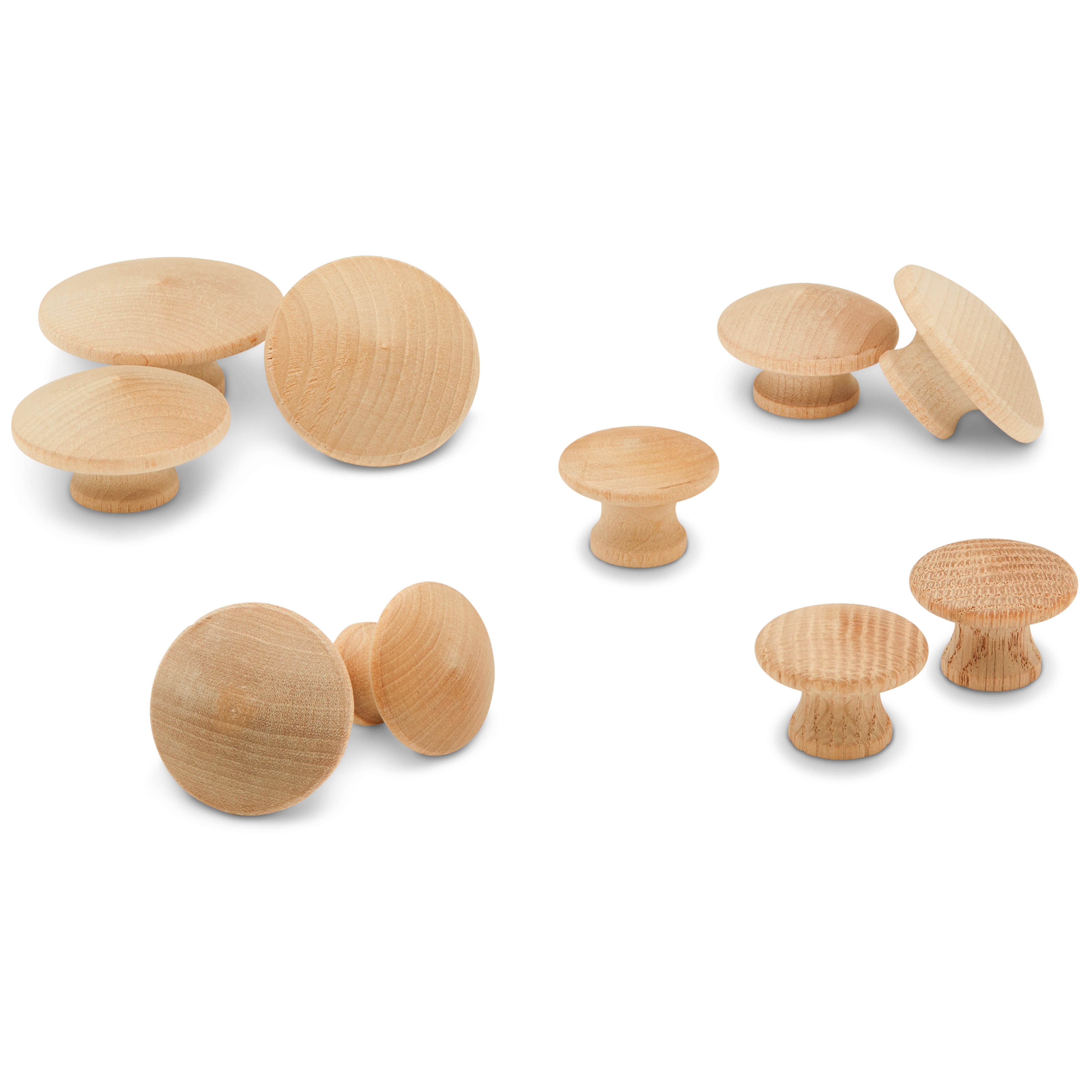 End Grain Wood Knobs