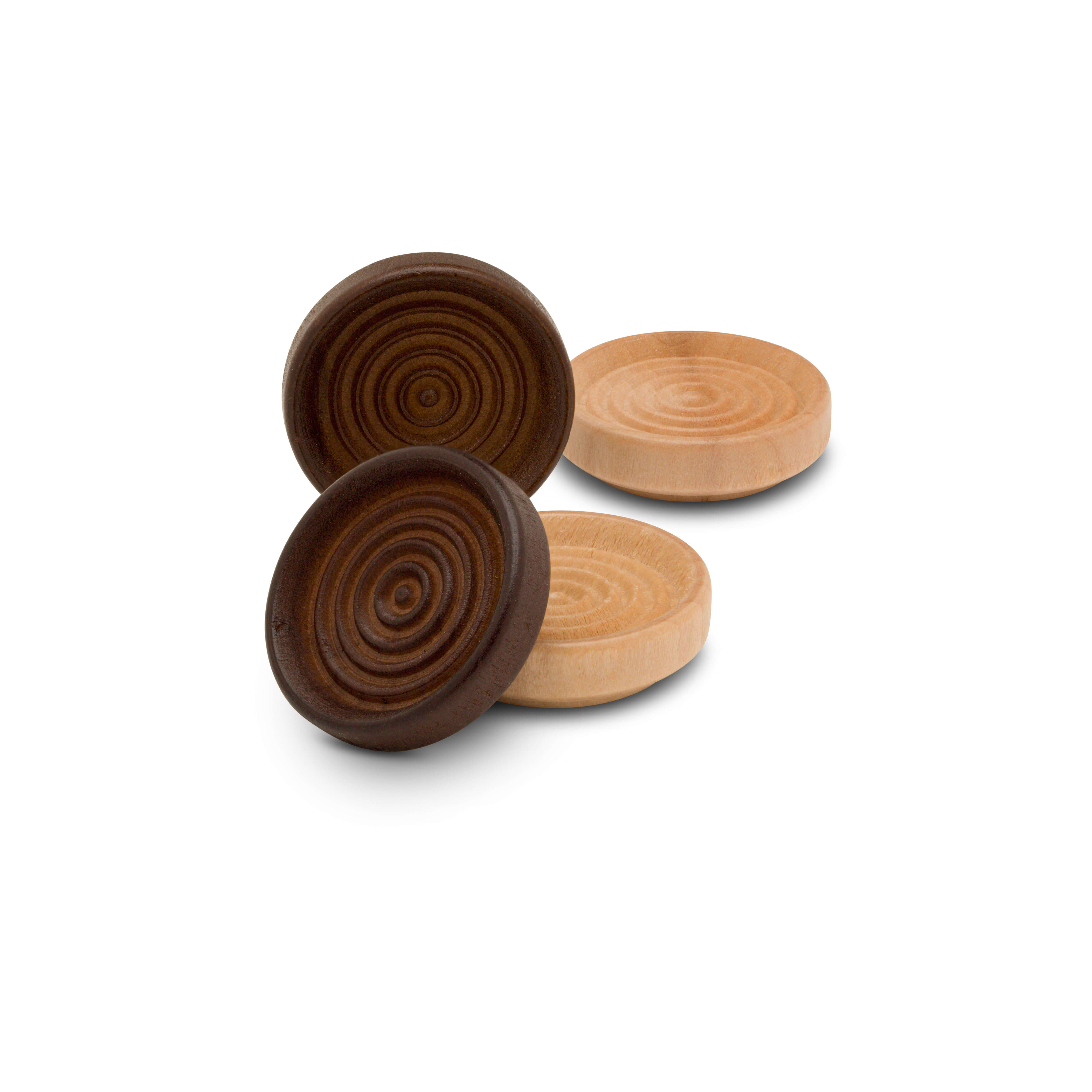 Wood Checker Pieces