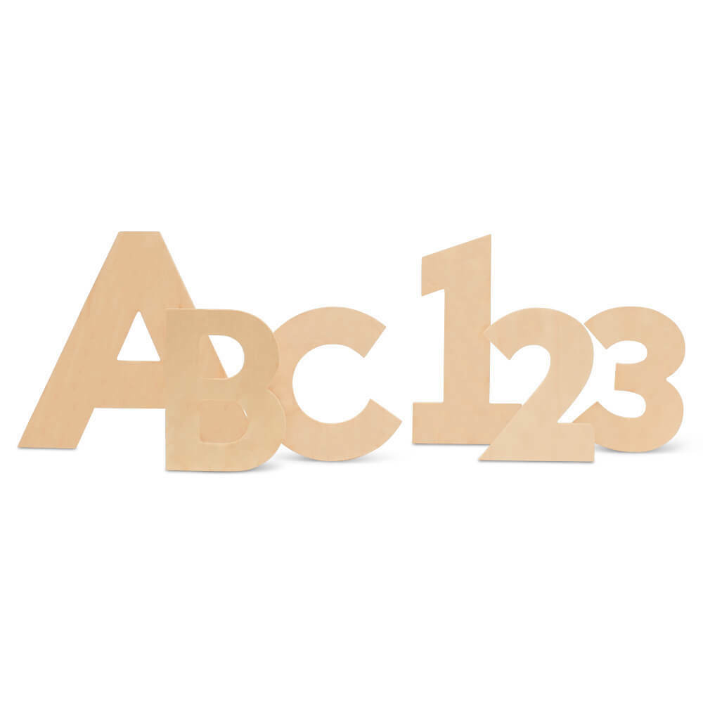 Wood Letter & Number Cutouts