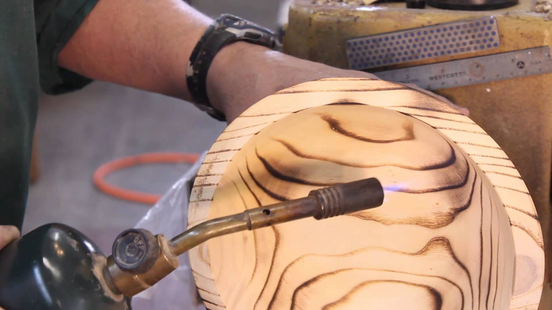 Adding Burn Lines to Wood Turnings