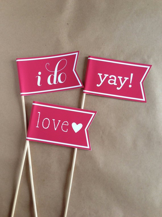 Making Wedding Flags with Wooden Dowels