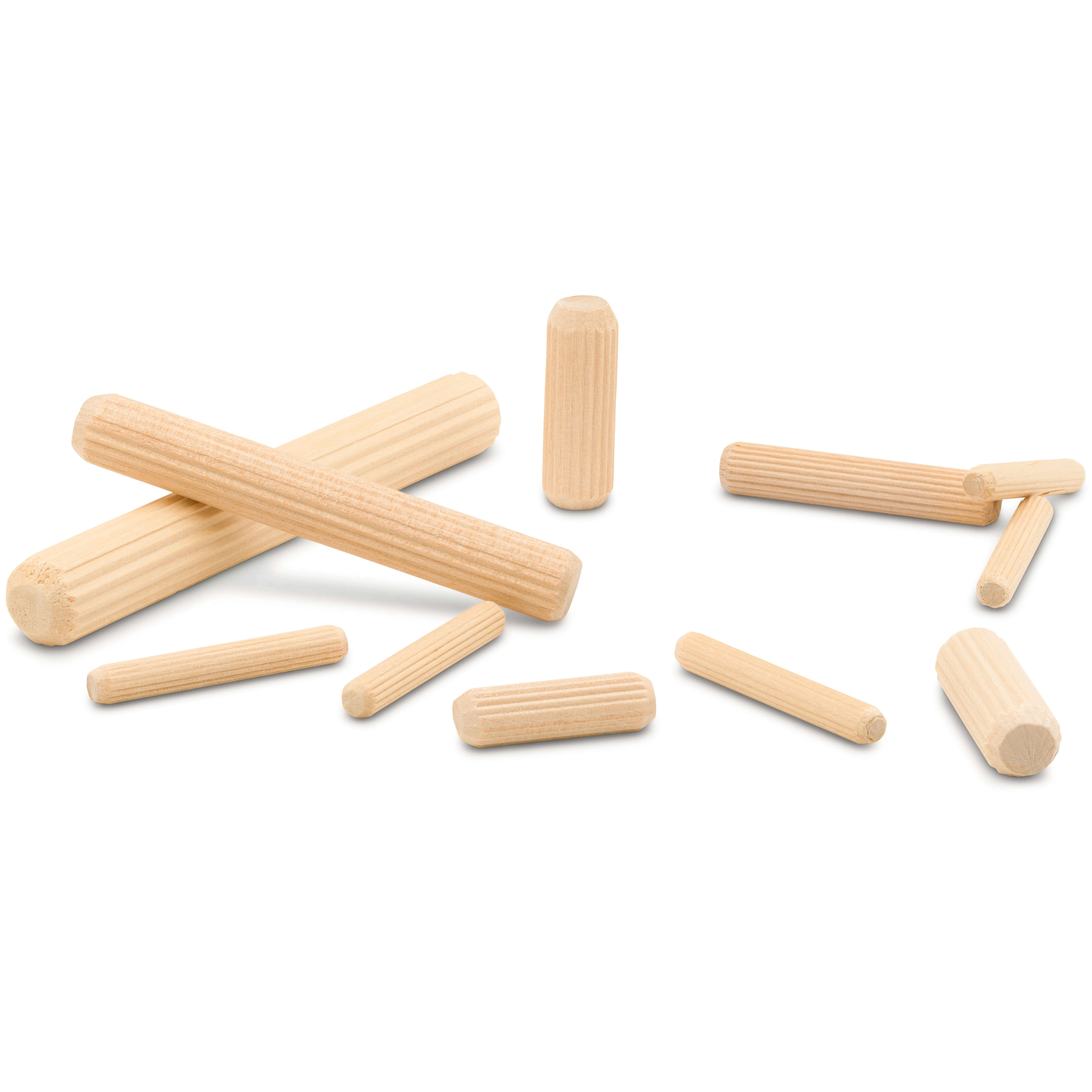 Fluted Wood Dowel Pins