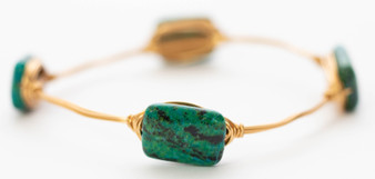 Chrysocolla Stone Bangle