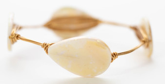 White Mother of Pearl Bangle