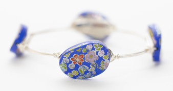 "Blue ""Flower Girl"" Bangle"