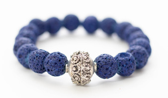 Blue Lava Rock Bracelet