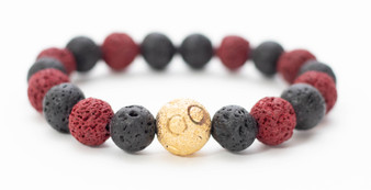 Black & Red Lava Rock Bracelet