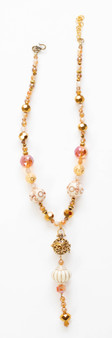 Champagne & Gold Crystal Necklace Set