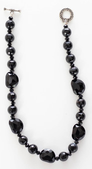 Faceted Black Onyx Necklace Set