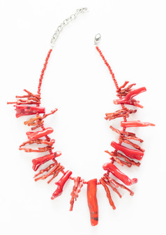 Red Stick Coral Necklace Set