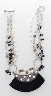 Black, White, & Silver Chain Set