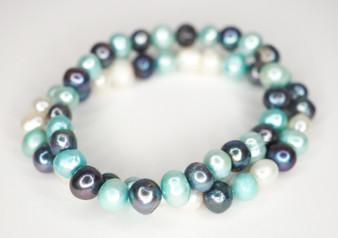 Tri Color Freshwater Pearl Bracelets