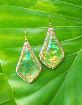 Yellow Iridescent Earrings
